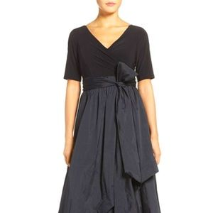 Adrianna Papell Black High Low Balk Gown Sz 22